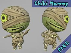 "Low poly Chibi Mummy  This package contains only one character model. It is fully rigged, animated and optimized for mobile devices.  It means that triangle count is 1882; There are 34 joints in the skeleton. Only two joints have influence on each vertex at the same time (you can use option ""2 bones blend weight"" in Unity setting); Model is ready for Mecanim (Generic) and has one 512px hand painted texture. I showed an example of using and mixing the animations on the demo scene. There are…"
