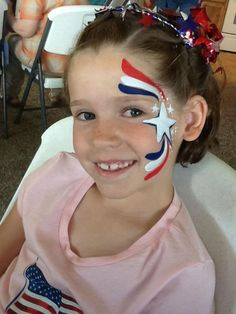 Image result for fourth of july face paint