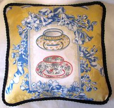 French Country Romantic Cottage Pillow by TsEclecticTreasures, Morning Tea