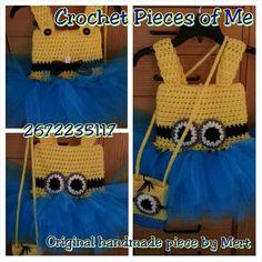 My crocheted Minion dress.