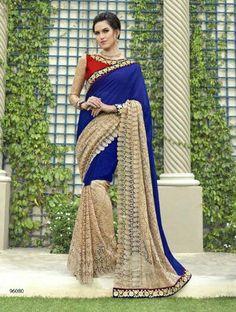 Indian Designer Bollywood Wedding Partywear Pakistani Saree Blouse Freeship Sari #Shoppingover #Saree #PartyWear