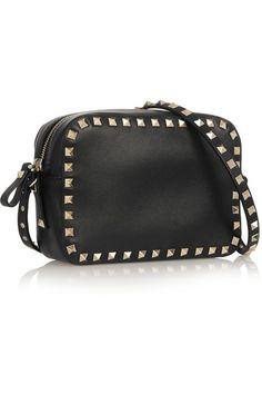 Valentino | The Rockstud leather shoulder bag | NET-A-PORTER.COM