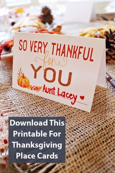 Thanksgiving Place Cards: Free Printable - MomDot