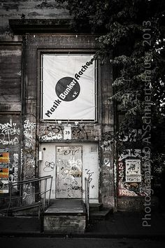 The famous Musik Bunker Aachen in the Frankenberger-Viertel a district of Aachen. Bunker, London Dry, Backstage, Places Ive Been, Germany, Musik, Deutsch, Asylum
