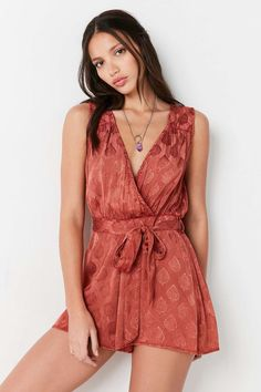 Ecote Rayna Surplice Playsuit