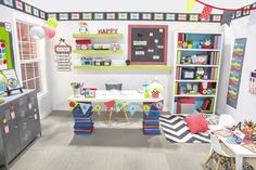 Isabella Classroom Décor - Decorate your #classroom in trendsetting fashion with our Isabella Collection! From décor to storage and much, much more, coordinating designs and cute colors cover everything necessary to transform your classroom into a creative environment. Chic patterns include the latest looks of chevron, quatrefoil, polka dots, and stripes to spruce up any space. #teachers