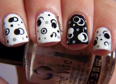 Nail Ideas: black and white molecules! ~ The Polish Well