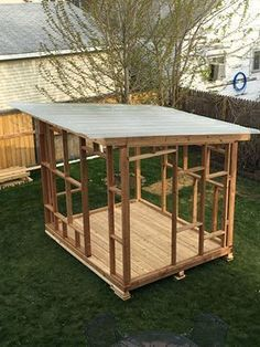she shed, diy, outdoor furniture, outdoor living, woodworking projects, 8 X 10 cedar frame with shed roof