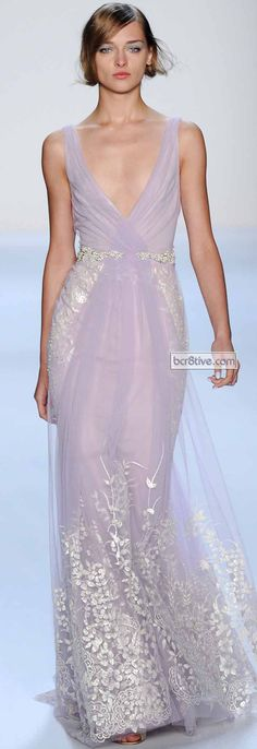 If I were a millionaire and getting married, I would wear this. (Badgley Mischka Spring 2014)