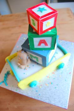 Building blocks name and Macca Pacca cake