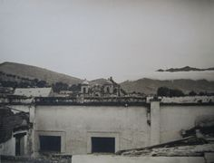 Gilpin, Laura:  Roofs And Mountain, Oaxaca City, Mexico, 1935, Printed Later.
