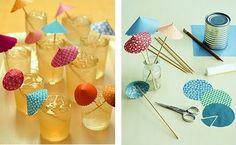 Como hacer sombrillas de papel decorativas