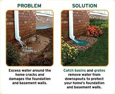 Water draining around a house or building can cause MAJOR problems. Drainage fixes can stop that damage from occurring in the future.