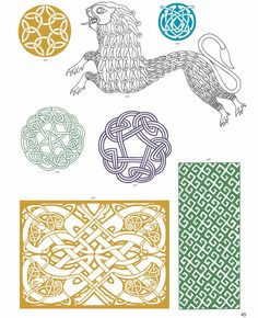 CELTIC VECTOR MOTIFS by: Alan Weller - Dover Publications FULL PAGE 6