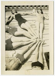 bathing beauties c.1940's