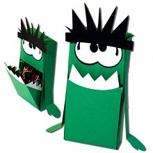 Monster Slider Hatch Treat Box halloween
