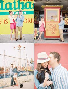 Coney Island engagement photos