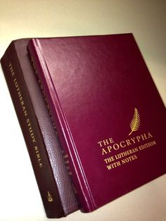 Great blog post on the newly released Lutheran edition of the Apocrypha.