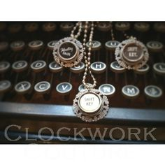 "Clockwork Couture - ""Typewriter Key Necklace"""