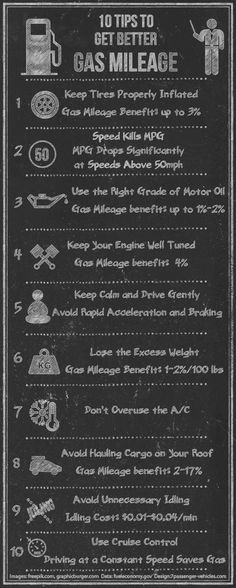 10 #Tips to Improve #Gas #Mileage #Infographic