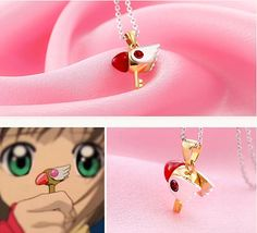 Considerate New Cute Kawaii Card Captor Sakura Necklace Wand Key Pendant Japanese Anime Jewelry Accessories Girl Gift Costumes & Accessories Costume Props