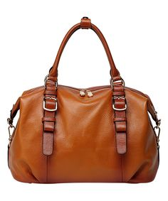 This Brown Infinity Leather Satchel by Vicenzo Leather is perfect! #zulilyfinds