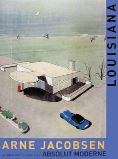 Adjacent to the Bella Vista condoes a gasstation (1939) next to a modern theater The Bellevue  - Arne Jacobsen - Louisiana Museum