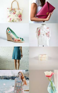 Birds and Flowers by Christina on Etsy--Pinned with TreasuryPin.com