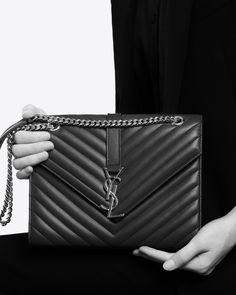 ysl handbag replica - monogram saint laurent envelope chain wallet in royal blue grain ...
