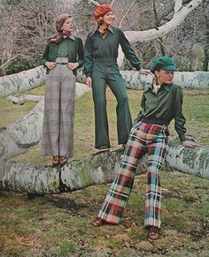 'Scampery pants. Lean. Lively. Duded up with individual touches.' (1973) #BobbieBrooks
