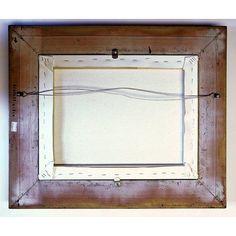 "Historic Art Gallery 'Landscape 1867' Framed Print on Canvas Format: Bronze Framed, Size: 16.5"" H x 19.5"" W x 2"" D"