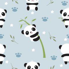 Cute panda and bamboo tree seamless patt. Kids Prints, Baby Prints, Nursery Prints, Vintage Flowers Wallpaper, Cute Panda Wallpaper, Panda Wallpapers, Cute Cartoon Wallpapers, Niedlicher Panda, Cute Panda Drawing