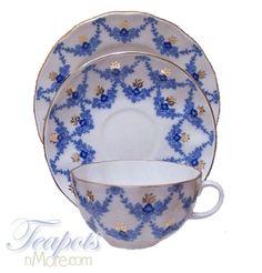 Lomonosov Evening Time Porcelain Cup Saucer Plate Trio
