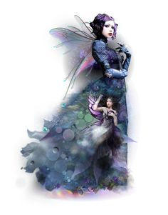 Queen of Fairies by theamaia on Polyvore featuring art