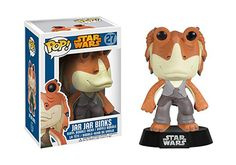 Funko POP Star Wars: Jar Jar Binks Bobble Figure From Star Wars Episodes I, II and III, the Gungan you love to hate has been given the vinyl figure bobble head Funko Pop Toys, Funko Pop Vinyl, Funko Pop Star Wars, Star Wars Toys, Pop Vinyl Figures, Star Wars Jar Jar, Jar Jar Binks, Pop Bobble Heads, Jouet Star Wars
