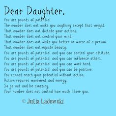 Pounds of Potential: A father's letter to his daughter -