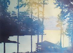 original award winning watercolor -Boat House by jpWATERCOLORplus, $1200.00