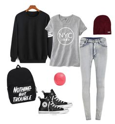 """""""Random picks"""" by redhamster on Polyvore featuring Cheap Monday, Old Navy, Converse, Neff and Eos"""