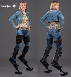 Weta Legs are a unique, low profile, professional grade reverse leg stilt for creature and costume performances in movies, television, theatre, circus, street performances and other creative performances. Something previously reserved for commercial film and television projects, they are the first of their kind available commercially to the public.