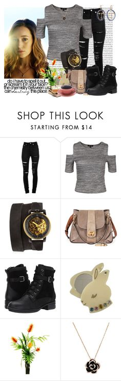"""Speak a Little Softer"" by grimalkim ❤ liked on Polyvore featuring Yves Saint Laurent, New Look, Fob Paris, Chloé, Blondo, Designs by Lauren and MANGO"