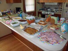 Easter Dinner Spread