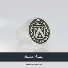 DeClercq family crest jewelry