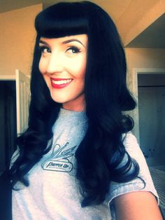 Bettie bangs, pinup, rockabilly, black hair