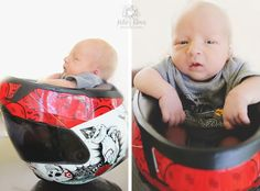 Kelsey Klaus Photography » newborn photography - motorcylce helmet - baby