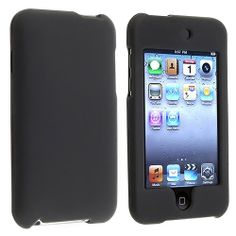 eForCity Snap-On Rubber Coated Case for iPod touch 2G/3G (Black)