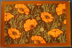 I've been thinking of designing a California poppy tattoo for a while now...