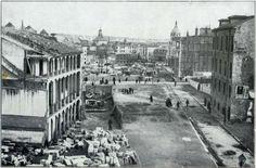 Derribo de edificios para construir la Gran Vía, 1910. Hemeroteca Municipal (Madrid)