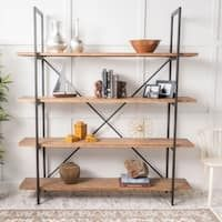 Septima 4 Shelf Antique Bookcase By Christopher Knight Home