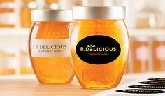 BDelicious Custom Label Honey Jar Application Image Labels
