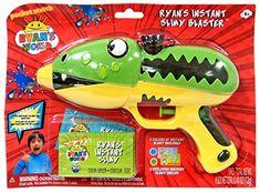 Ryan's World Instant Slimy Blaster Gun. Kids Ride On Toys, Toy Cars For Kids, Toys For Girls, Kids Toys, Kids Water Toys, Dinosaur Background, Paw Patrol Birthday Theme, Hello Kitty Bedroom, Ryan Toys